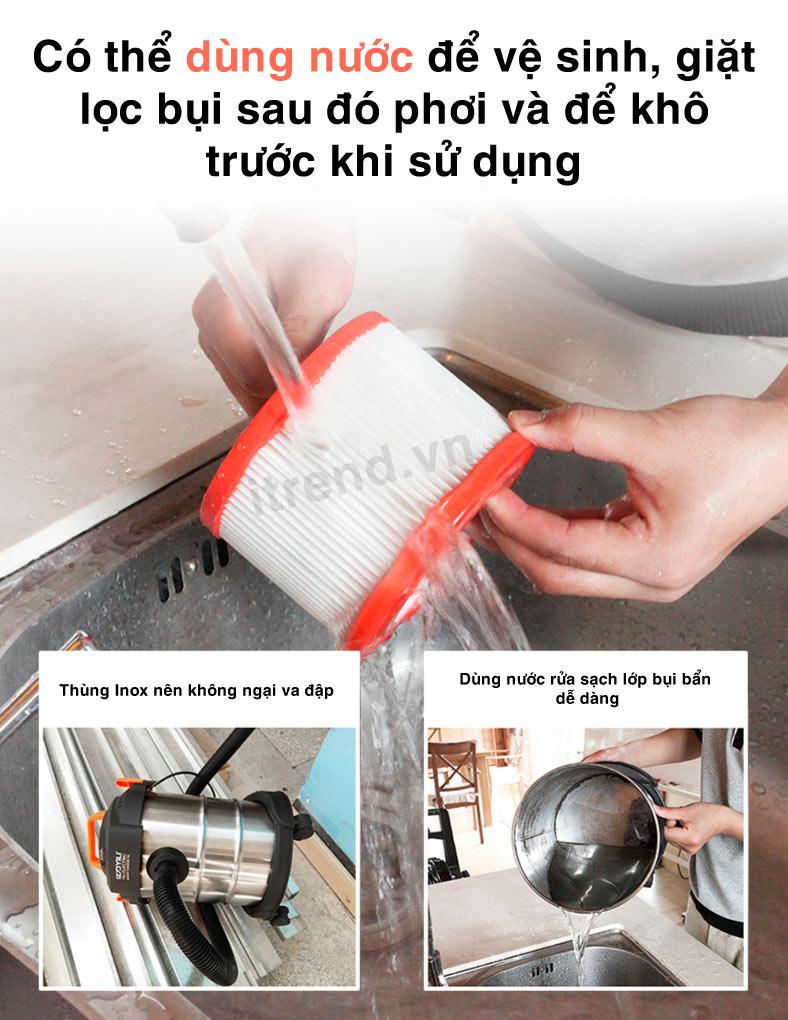 Cách vệ sinh máy hút bụi YILI