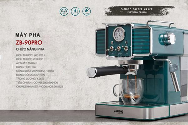 Máy pha cà phê ZB-90PRO (XANH)